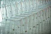 Empty guest seats on the runway — Stock Photo