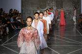 Models walk the runway finale during the Mila Schon show — Stock Photo