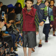 Models walk the runway finale during the Parsons preview at petite PARADE Kids Fashion Week — Photo #55938575