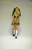 Model walks the runway during the Alivia Simone preview at petite PARADE Kids Fashion Week — ストック写真