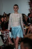 Oscar De La Renta fashion show during Mercedes-Benz Fashion Week — Foto de Stock