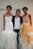 Designer Della Giovanna with models — Stock Photo