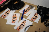 Backstage during Made in the USA Spring 2015 lingerie showcase preparations — Stock Photo