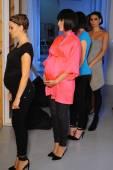 USA Spring 2015 lingerie showcase preparations — Stock Photo