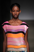 Tracy Reese during Mercedes-Benz Fashion Week — Stock Photo