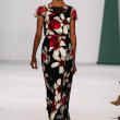 Model Cora Emmanuel walk the runway at the Carolina Herrera fashion show — Stock Photo #57699615