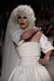 Drag Queen Sharon Needles walks the runway at Betsey Johnson — Stock Photo