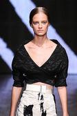 Ine Neefs walk the runway at Donna Karan New York — Stock Photo