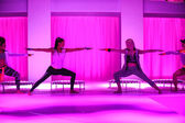 Models perform during the Athleta Runway show — 图库照片