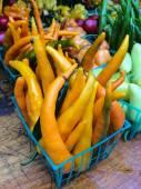 Multicolored pappers at farmers Market — Foto de Stock