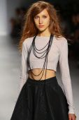 Model walks the runway at the Mark And Estel fashion show during MBFW — Fotografia Stock