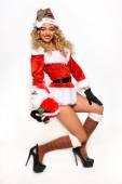 Sexy Santas Helper girl — Stock Photo