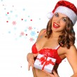 Sexy Santas Helper girl — Stock Photo #61129235