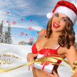 Sexy Santas Helper girl — Stock Photo #61129245