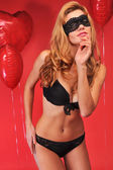 Slim model wearing provocative lingerie — Stock Photo