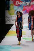 Desigual fashion show during Mercedes-Benz Fashion Week — Stock Photo