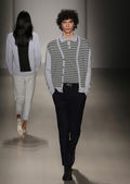 Orley fashion show during MBFW Fall 2015 — Stock Photo