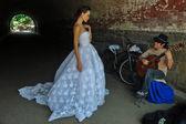 Kalyn Hemphill at the Irina Shabayeva SS 2016 Bridal collection — Stock Photo