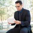 Businessman using tablet computer — Stock Photo #60324413