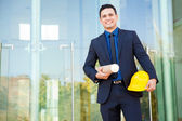 Investor visiting construction site — Stock Photo