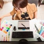 Designer working on computer — Stock Photo #63996561
