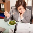 Business woman Eating lunch — Stock Photo #63996817