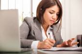 Accountant doing some calculations — Stock Photo