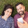 Couple taking  selfie — Stock Photo #65239199