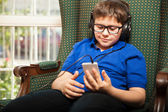 Boy listening to some music — Stock Photo