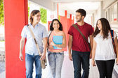 Students walking together — Stock Photo