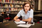Student taking some notes — Zdjęcie stockowe