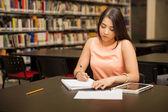 Student doing some work — Stock fotografie