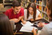 Young adults studying — Stock Photo