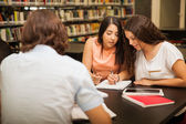 Students helping each other out — Stock Photo