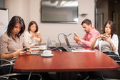 People sitting in a meeting room — Stock Photo