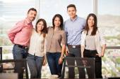 People standing  in a meeting room — Stock Photo