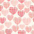 Sketchy vector seamless pattern with hearts — Stock Vector #54988313