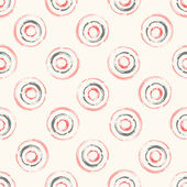 Seamless vector pattern with concentric circles — Stock Vector