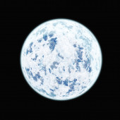 Realistic blue planet isolated on black background. — Stock Photo
