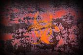 Biohazard Symbol on Old Rusty Metal Surface. — Stock Photo