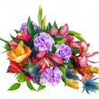 Colorful Flower Bouquet Arrangement Centerpiece Isolated on Whit — Stock Photo #58771345