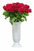 Colorful flower bouquet from red roses isolated on white backgro — Stock Photo
