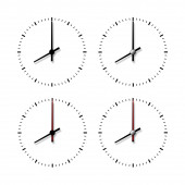 Set of clocks without numbers. — Stock Photo