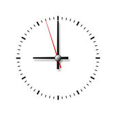 Relógio sem números isolados no fundo branco. — Fotografia Stock