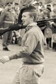 Young Desert Rat soldier — Stock Photo