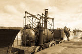"Replica locomotive ""Steam Elephant"" — Stock Photo"
