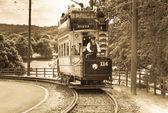Vintage tram — Stockfoto