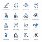 Medical & Health Care Icons Set 2 - Specialties — Vetorial Stock