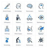 Medical & Health Care Icons Set 2 - Specialties — Vettoriale Stock