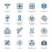 Medical & Health Care Icons Set 1 - Blue Series — Stock Vector